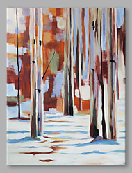 IARTS® Hand Painted Oil Painting Modern Natural Winter Forest Art Acrylic Canvas Wall Art For Home Decoration