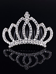 Crown Crystal Girl Hair Comb Kids Headwear Princess Animal Shape Diamond Headbands Children Hair Clips Hair Accessories