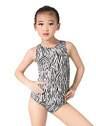 Balé Malha Mulheres Crianças Actuação Náilon Chinês Lantejoulas Licra 1 Peça Sem Mangas Natural Malha Collant