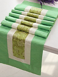 Flat Angle Chinese Fine Bamboo Cotton And Linen Table Flag 33*180cm