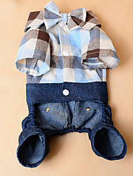 Dog Shirt / T-Shirt Dog Clothes Casual/Daily Jeans