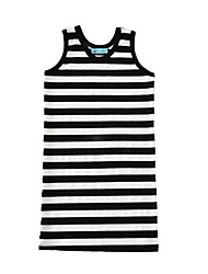 Girl's Striped Dress Cotton Summer Sleeveless Kids Girls Fashion Dresses