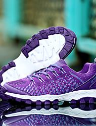 Femme Chaussures d'Athlétisme Confort Tulle Printemps Eté Décontracté Course à Pied Confort Motif Animal Lacet Talon Plat Violet Rose5 à