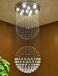 Luminaires en plafonnier en cristal plafonnier Lustres intérieurs Luminaires à domicile Lampes lumineuses avec lampes blanches chaudes led
