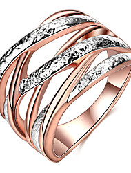 Ring Settings Band Rings Women's Euramerican Luxury Elegant Geometric Style Business Engagement Party Movie Gift Jewelry