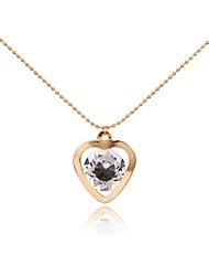 Women's Pendant Necklaces Rhinestone Heart MetallicUnique Design Pendant Tag Geometric Tassels Movie Jewelry Fashion Personalized
