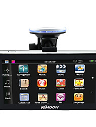 KKmoon 7 Portable HD Screen GPS Navigator 128MB RAM 4GB ROM MP3 FM Video Play Car Entertainment System with Back Support Free Map