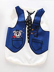 Hund Mäntel Pullover Hundekleidung Party Lässig/Alltäglich warm halten Kartoon Blau Hellblau