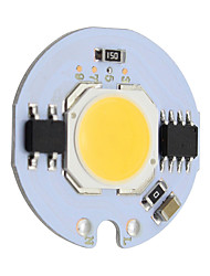 7w round led cob chip smrat ic ac220v pour diy downlight spotlight plafonnier blanc chaud / cool (1 pièce)