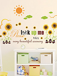 Wall Stickers Wall Decas Style Cartoon Chrysanthemum PVC Wall Stickers