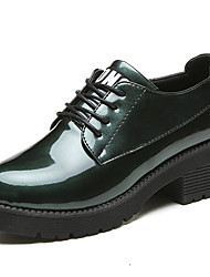 Women's Oxfords Comfort Summer Rubber Walking Shoes Outdoor Lace-up Low Heel Black Light Grey Army Green Burgundy Under 1in