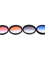 Andoer professional 52mm gnd градуированный набор фильтров gnd4 (0.6) серый синий оранжевый красный градуированный нейтральный фильтр