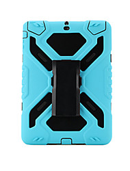 For Apple iPad Air 2  Shockproof with Stand Armband Case Solid Color Hard PC With Silicone