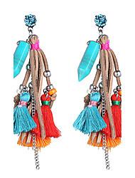 Femme Boucles d'oreille goutte Bijoux Original De côté Elastique Bijoux de Luxe Simple Style Hip-HopPlastique dur Plastique + platine +