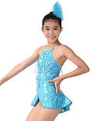MiDee Jazz Unitards Women's / Children's Performance Spandex / Sequins / Split Front 2 Pieces Blue Jazz