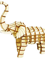Puzzles Kit de Bricolage Puzzles 3D Blocs de Construction Jouets DIY  Animal Bois Naturel