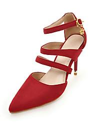 Damen High Heels Pumps Nubukleder Sommer Kleid Party & Festivität Pumps Kombination Stöckelabsatz Schwarz Grau Gelb Rot Grün 7,5 - 9,5 cm