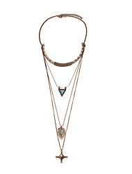 Women's Statement Necklaces Geometric Gem Chrome Tassel Friendship Movie Jewelry Fashion Two-tone Statement Jewelry USA Jewelry ForParty