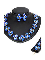 Women's Jewelry Set Rhinestone Euramerican Resin Chrome Rhinestones Heart ForWedding Party Special Occasion Halloween Anniversary