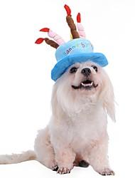 Собака Банданы и шляпы Одежда для собак Косплей День рождения Мода Хэллоуин Буквы и цифры Синий Розовый