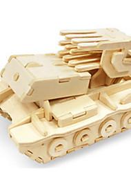 Rompecabezas Kit de Bricolaje Puzzles 3D Bloques de construcción Juguetes de bricolaje Tanque Cuadriga