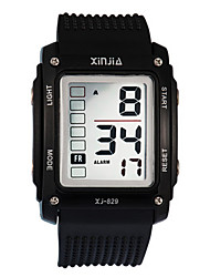 Men's Kid's Sport Watch Digital Rubber Band Black