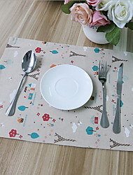 High Quality Non-slip Cotton And Linen Material Table Placemat 32*45cm