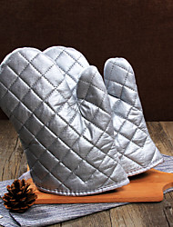 1 pair Silver Microwave oven gloves insulated gloves Oven mitts kitchen baking tools