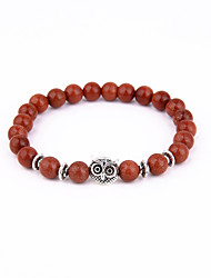 Owl Beads Bracelet Energy Natural Stone String Bracelet 01