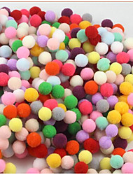 200pcs/1 Pack 1Cm Mixed Colour DIY Hand-Made Material Wool/Color Wool Ball