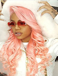 New Style Cheap Price Pink Human Hair Dark Roots Body Wave  Wigs Glueless Lace Front Brazilian Virgin Hair Wigs With Baby Hair For Black Women