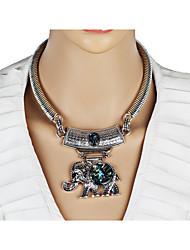 Mujer Collares Declaración Forma Geométrica Forma de Animal Diseño Único Animal Círculo Moda estilo de Bohemia Personalizado Euramerican