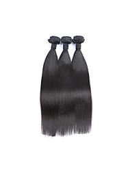 Tissages de cheveux humains Cheveux Brésiliens Droit Plus d'Un An 3 tissages de cheveux
