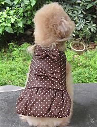 Dog Coat Dog Clothes Keep Warm Polka Dots Green Coffee Black