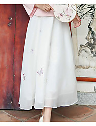 Mujer Noche Midi Faldas,Columpio Verano Estampado