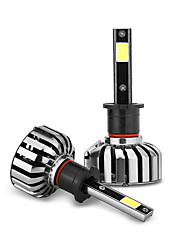 2pcs levou o farol do carro h3 30w 3200lm oi / lâmpada baixa h3 substitui o farol do automóvel de halogéneo