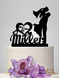 Personalized Acrylic Sweet Love Wedding Cake Topper