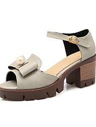 Women's Heels Basic Pump Comfort PU Leatherette Spring Summer Casual Office & Career Party & Evening Dress Basic Pump Comfort BowknotLow