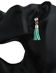 Women's Earring Back Drop Earrings Hoop Earrings Tassel Tassels Bohemian Resin Metal Alloy Geometric Jewelry For Traveling Street