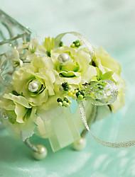 """Fleurs de mariage Petit bouquet de fleurs au poignet Cérémonie de mariage Mousseline de soie 2.36""""(Env.6cm)"""