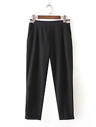 Femme Street Chic Taille Normale strenchy Ample Pantalon,Large Couleur unie Bandes Couleur Pleine