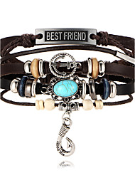 Women's Men's Leather Bracelet Fashion PU Leather Leather Anchor Jewelry For Party Special Occasion Gift Christmas Gifts