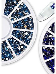 1pcs Fashionable Jewelry Nail Art Shining Crystal Decoration Gorgeous Blue Rhinestone Nail Art DIY Beauty Charm Design