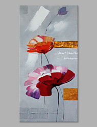 IARTS® Hand Painted Modern Abstract Swaying Flowers in the Wind on Canvas Stretched Frame Handmade Oil Painting For Home Decoration Ready To Hang