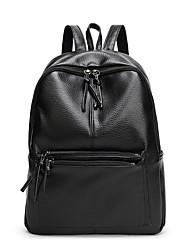 Damen Rucksack PU Ganzjährig Normal Bucket Bag Quaste Reißverschluss Schwarz 20-30