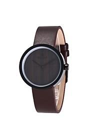REDEAR®Women's Fashion Watch Wood Watch Japanese Quartz Wooden PU Band Charm Elegant Black
