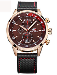 Men's Sports Quartz Watches Mens Watches Top Brand Luxury Leather Chronograph Clock Chronograph Wristwatches Relogio Masculino