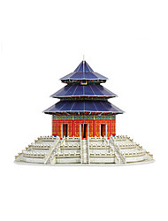 Jigsaw Puzzles 3D Puzzles Building Blocks DIY Toys Chinese Architecture Wooden