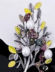 Mujer Broche Joyas Diseño Básico Legierung Forma de Flor Joyas Para Fiesta Fiesta/Noche Uso Diario Fiesta de Cumpleaños San Valentín