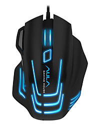 Aula 7 button dpi регулируемая игровая мышь, проводная черная версия с кабелем 180 см